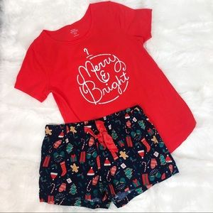 OLD NAVY ORANGE NAVY 2 PC PAJAMA SET NWOT SZ S